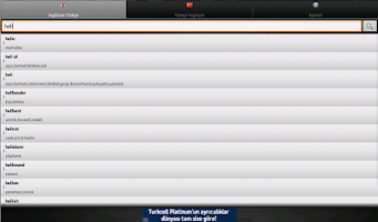 Screenshot of Sözlük