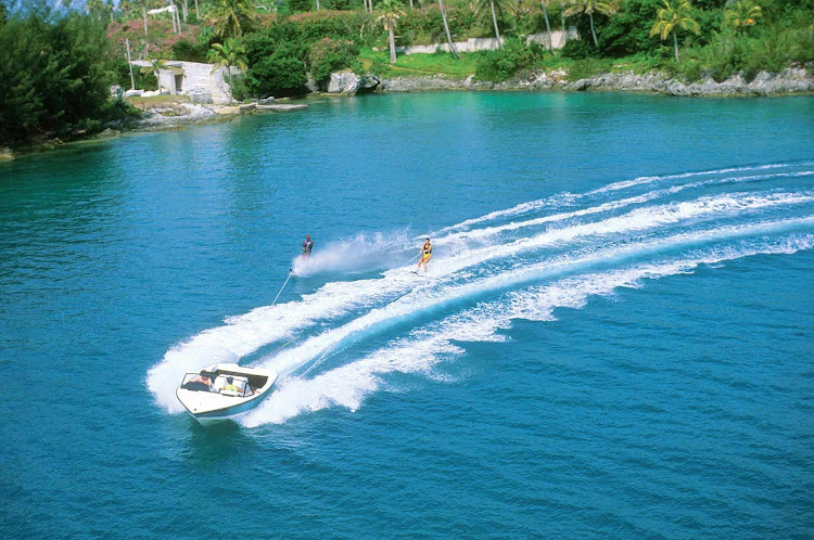 Try your hand at waterskiing during your vacation in Bermuda.