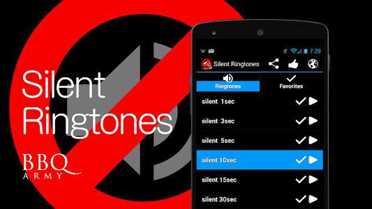 Silent Ringtones screenshot 0