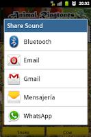 Screenshot of Animal Sounds Ringtones