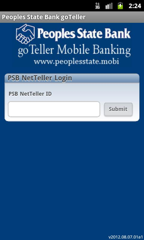 Peoples State Bank goTeller - screenshot