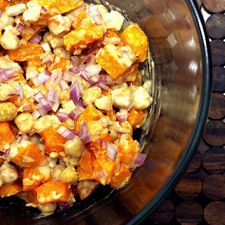 Warm Butternut and Chickpea Salad with Tahini Dressing