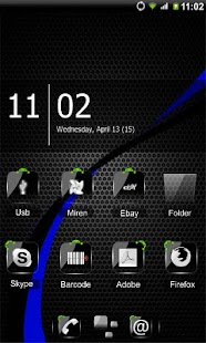 ADW Theme Crystal Black HD - screenshot thumbnail