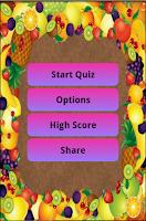 Screenshot of Fruit Quiz