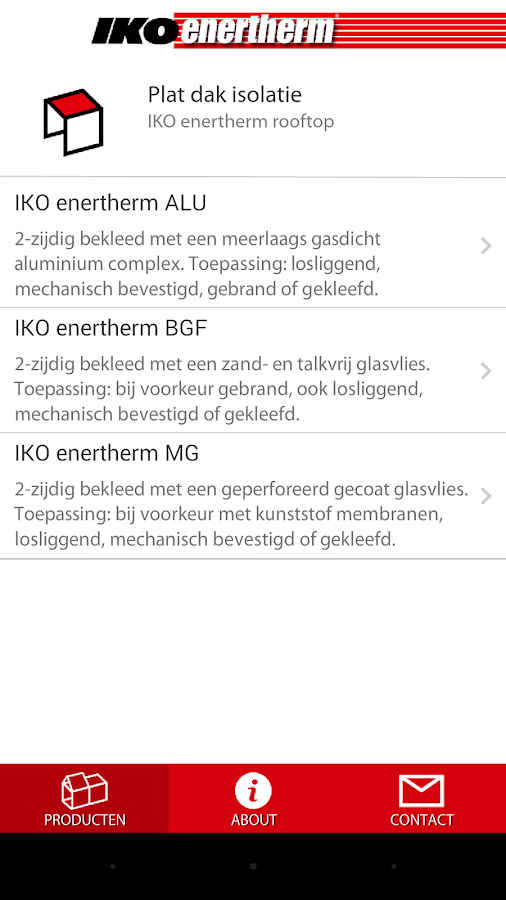 IKO Enertherm- screenshot
