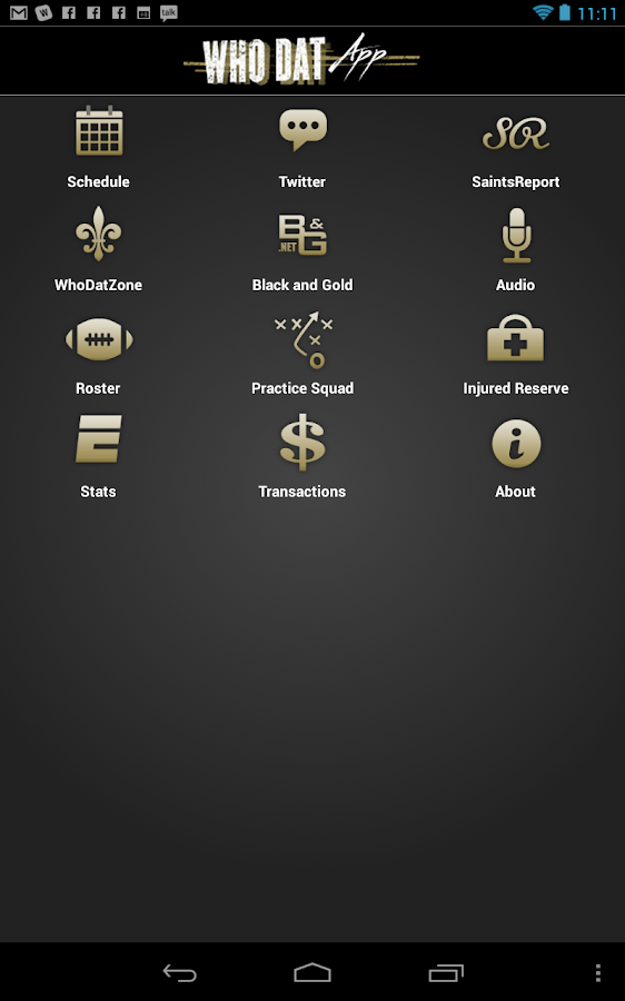 WhoDatApp - New Orleans Saints- screenshot
