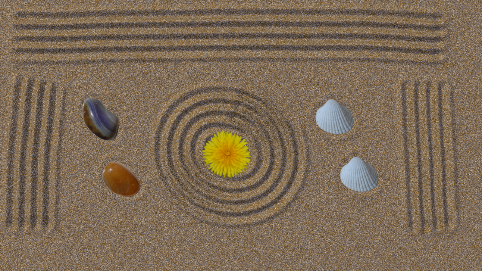 Japanese zen gardens top view - Zen Garden 3d Lite Screenshot