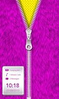 Screenshot of Purple Fur Zipper Lock Screen!