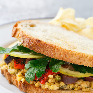 Marinated Chickpea Sandwiches with Lemon Confit