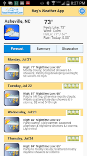 RaysWeather.Com Mobile App screenshot for Android
