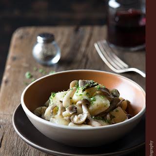 Nutmeg Gnocchi with Mushrooms.