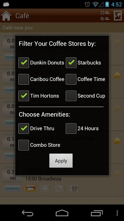 Coffee Anywhere - screenshot