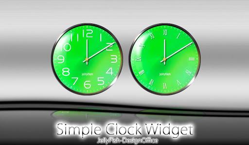 シンプルなアナログ時計ウィジェット【グリーン】