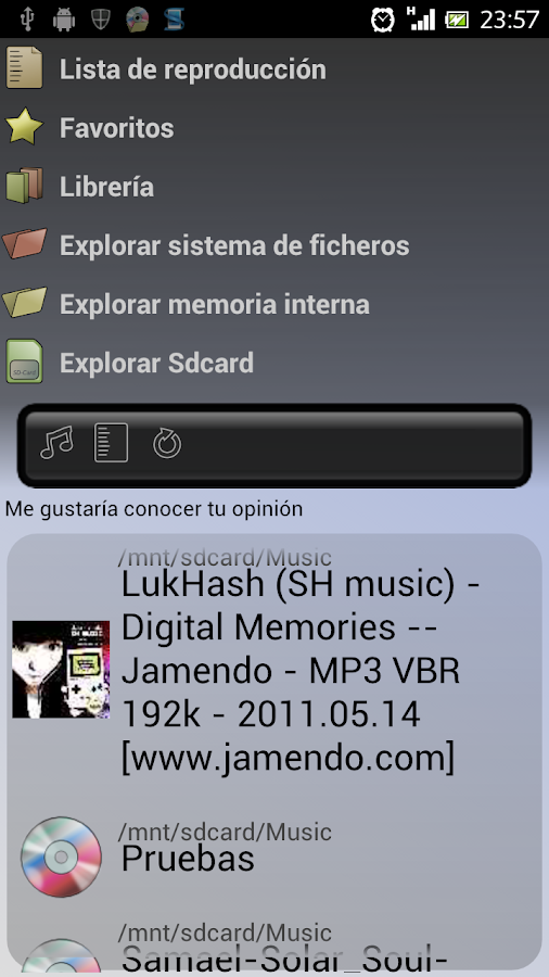 Album Folder Player - screenshot