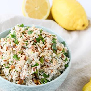 Lemon Almond Roast Chicken Salad