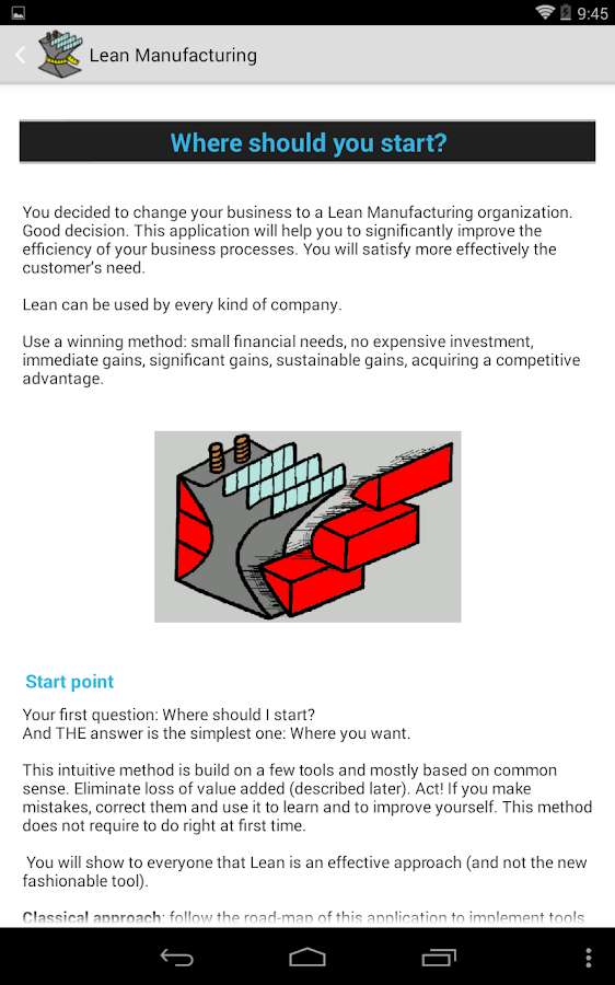 Lean Manufacturing Lite- screenshot