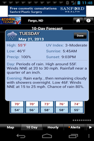 VNL Weather - screenshot