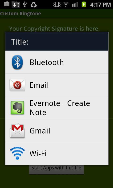 Custom Ringtone- screenshot