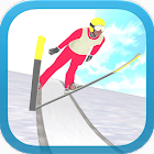 esqui salto 3D icon