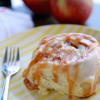 Best Ever Caramel Apple Cinnamon Rolls