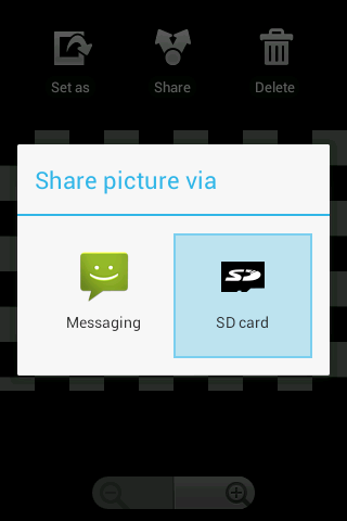 Send to SD card