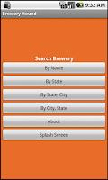 Screenshot of Brew Hound Brewery Beer Finder