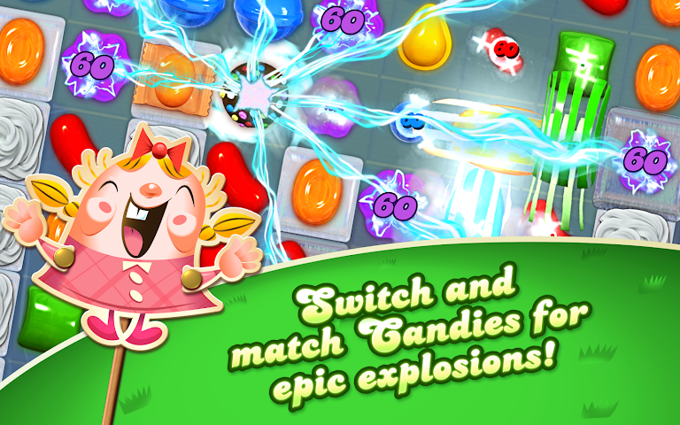 Screenshot 1 Candy Crush Saga
