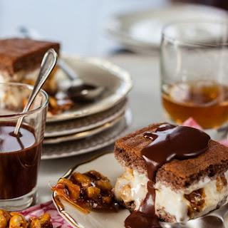 Ice-cream Slices With Caramelized Hazelnuts
