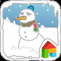 Fighting Snowman! dodol theme icon
