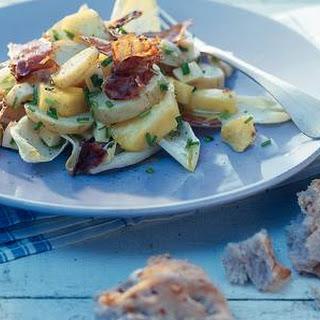 Aardappelsalade met Parmaham en witlof