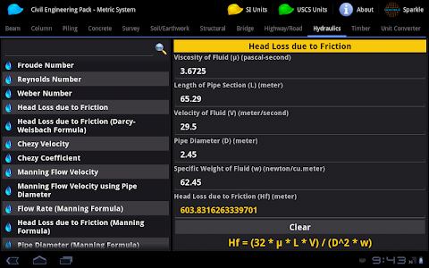 Civil Engineering Pack Tablet screenshot 6