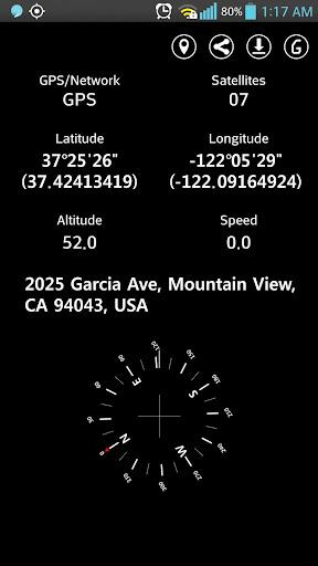 簡單的GPS坐標顯示