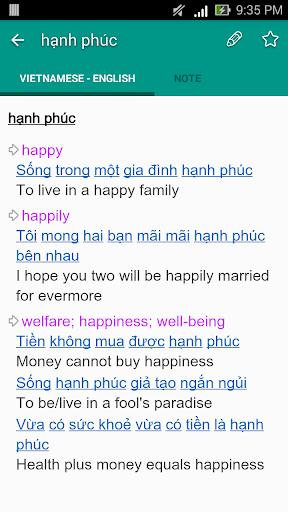 English Vietnamese Dictionary TFlat 6.4.8 screenshots 3