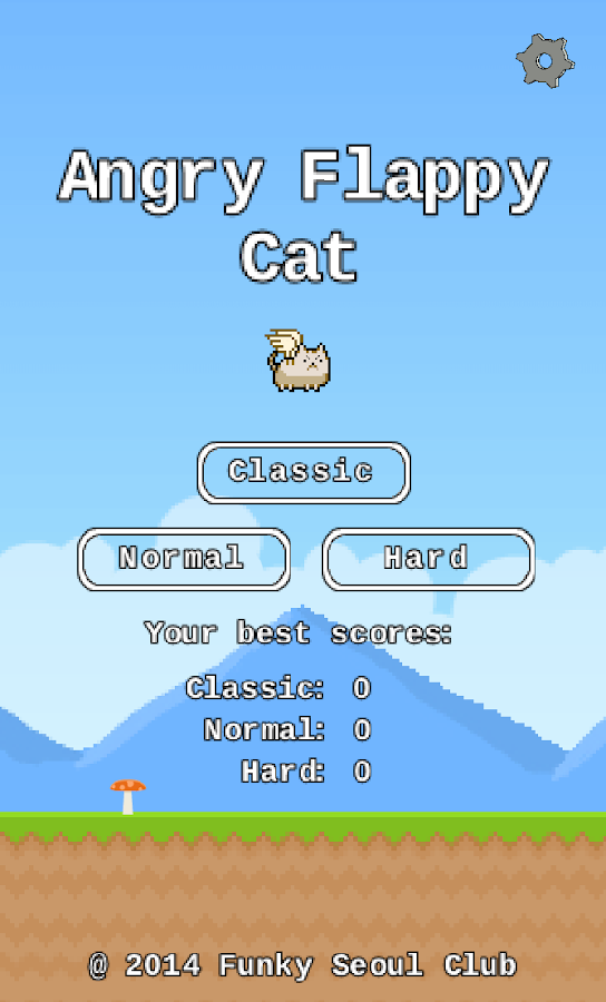 Angry flappy cat - screenshot