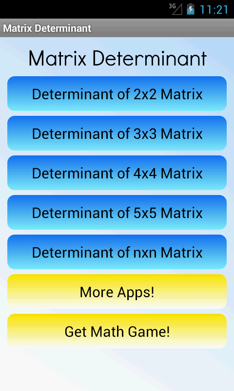 Matrix Determinant Calculator - screenshot