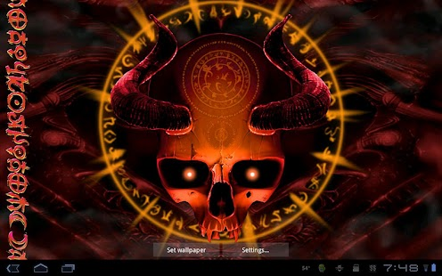 Mystical Skull Live Wallpaper- screenshot thumbnail