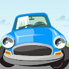 Park the blue car icon
