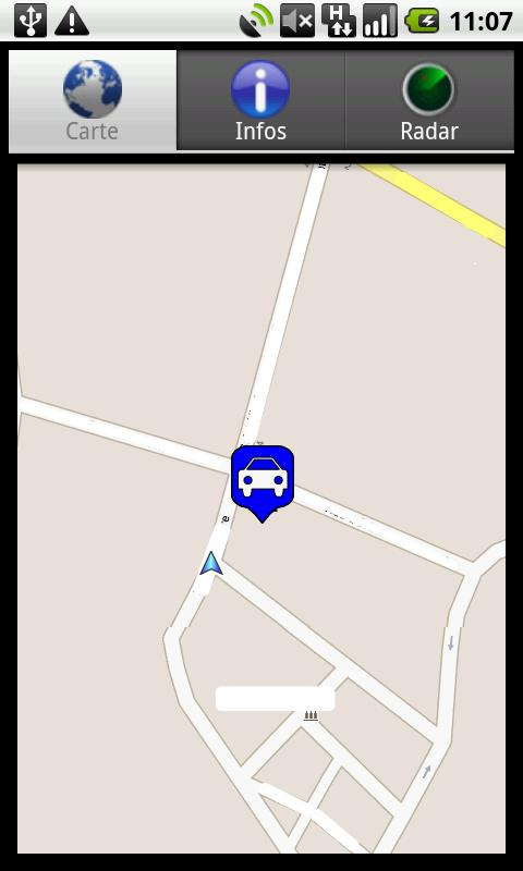 Car localization lite - screenshot