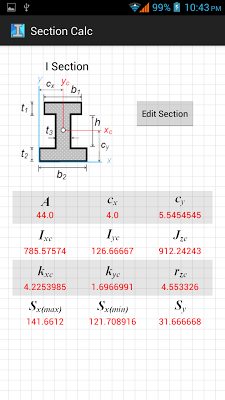 Section Calc - screenshot