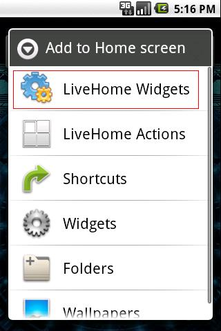 LiveHome - screenshot
