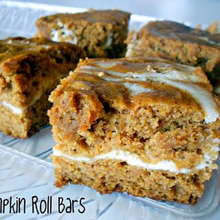 Cream Cheese & Pumpkin Roll Bars