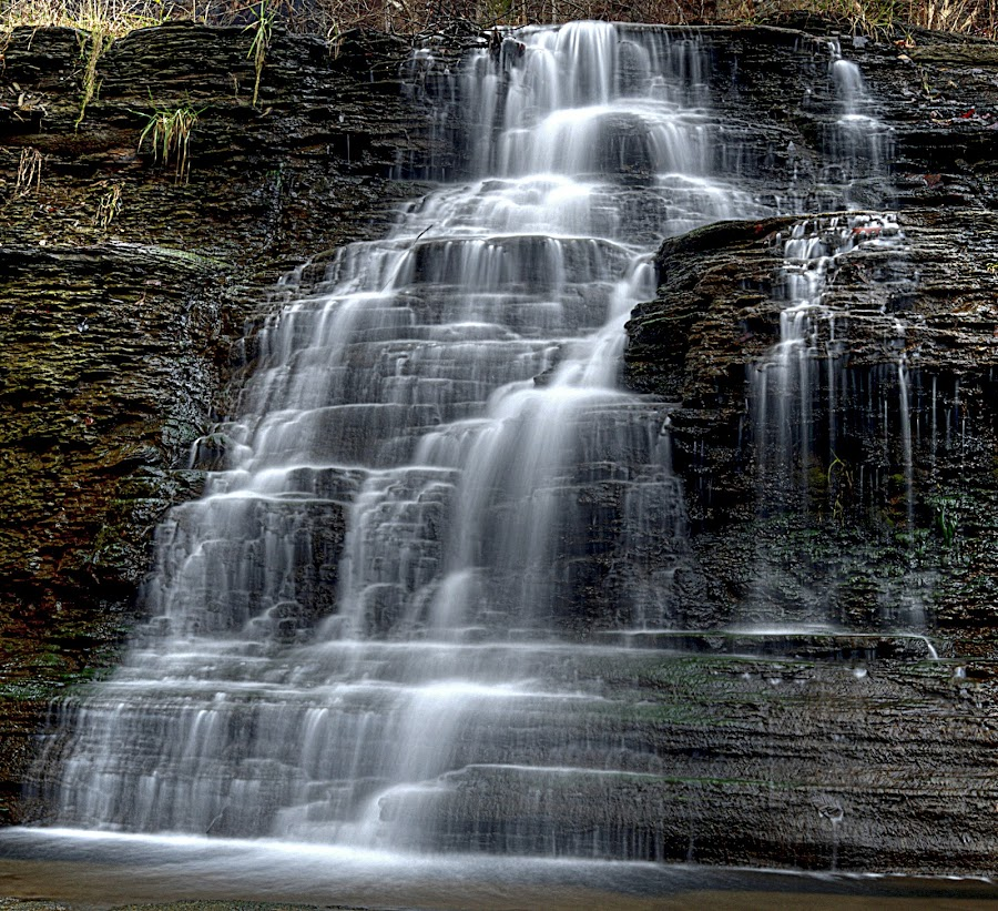 Carr Fork Falls  by Tom Martin - Landscapes Waterscapes