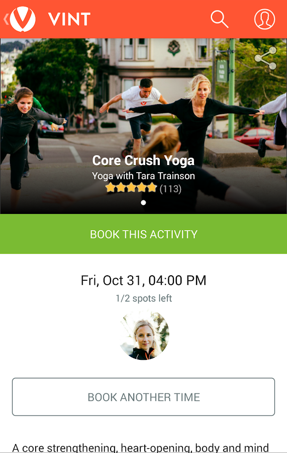 Vint - Instant workouts- screenshot