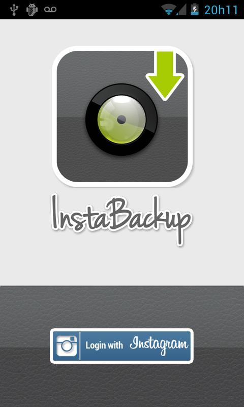 Instabackup - Instagram backup- screenshot