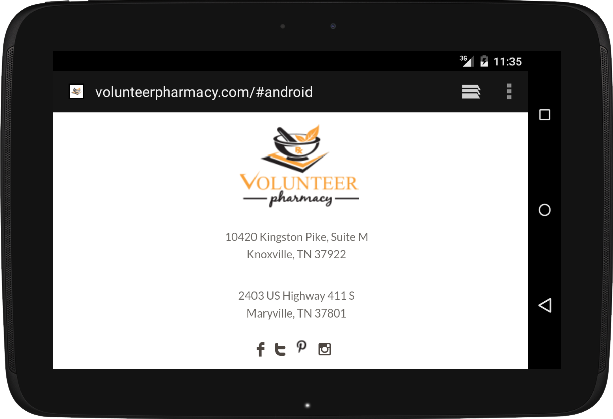 Volunteer Pharmacy- screenshot