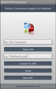 Doc to PDF Converter - screenshot thumbnail