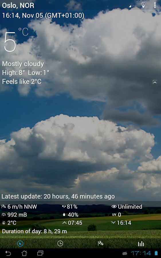 3D Flip Clock & Weather- screenshot