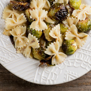Honey Mustard Roasted Brussels Sprouts Pasta.