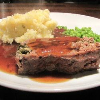 Spinach And Mushroom Stuffed Meatloaf