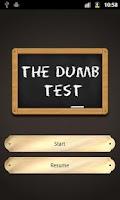 Screenshot of The Dumb Test (Moron test)